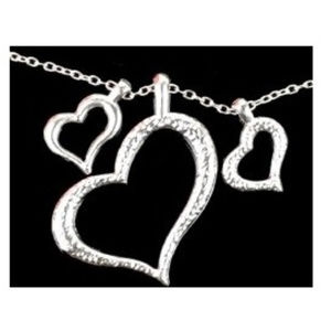 Jewelry - Three Heart Floating Pendant Necklace